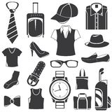 Clothing icons Stock Photos