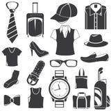 Clothing icons Stock Photos