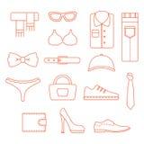 Clothing icons Stock Image