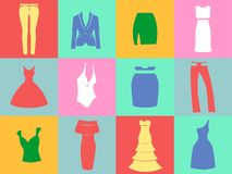 The clothing  icons Royalty Free Stock Photo