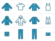 Clothing icons set 1 Royalty Free Stock Photos