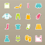 Clothing icons set  Stock Photo