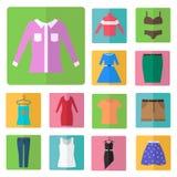 Clothing icons set Stock Photography