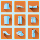 Clothing icons set Royalty Free Stock Photos