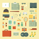 Clothing icons set Royalty Free Stock Images