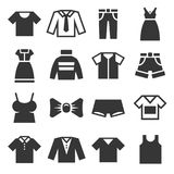 Clothing Icons Set on White Background. Vector Royalty Free Stock Photography