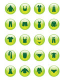 Clothing icons (Vector) Royalty Free Stock Photography