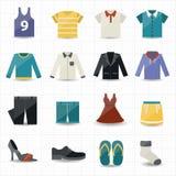 Clothing Icons Stock Photo