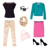 Clothing isolated female. Royalty Free Stock Image