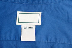 Clothing label Stock Photography