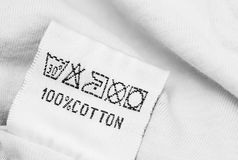 Clothing label with care instructions Royalty Free Stock Photography