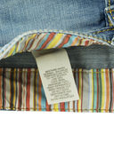 Clothing label with laundry care Stock Image