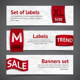 Clothing labels banners Royalty Free Stock Photography