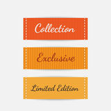 Clothing labels. Vector. Set of clothing labels. Vector Royalty Free Stock Images