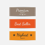 Clothing labels. Vector. Royalty Free Stock Photography