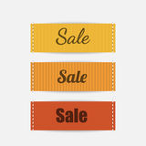 Clothing labels. Vector. Royalty Free Stock Photos
