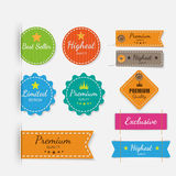 Clothing labels. Vector. Royalty Free Stock Image