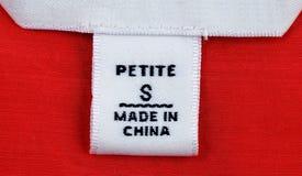 clothing liten och nätt format för etikett royaltyfria foton