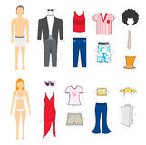 Clothing Makeover / Change looks. Clothing Makeover or Change looks Royalty Free Stock Image