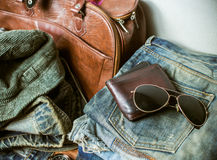 Clothing for mens - tone vintage Stock Photos