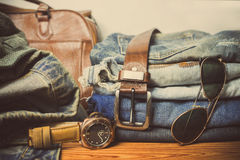 Clothing for mens - tone vintage Stock Photo