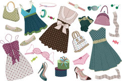 Clothing polka-dots Stock Photo