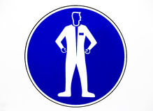 Clothing protective workwear sign Stock Photography