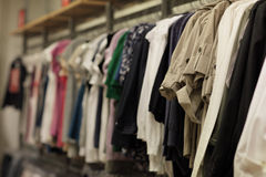 Clothing on a rack Stock Photography