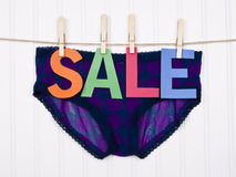 Clothing SALE. Vibrant Image for Your Next SALE Purple Panties Stock Photography