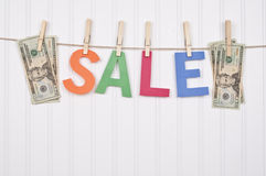 Clothing SALE. Vibrant Image for Your Next SALE Royalty Free Stock Images
