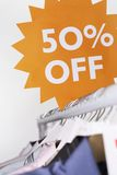 Clothing on Sale Stock Images