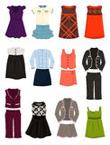 Clothing for school for girls Stock Photo