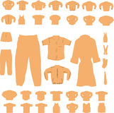 Clothing Set. A set of men and women's clothing items Royalty Free Stock Photography