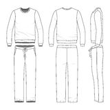 Clothing set of sweat suit. Royalty Free Stock Photos