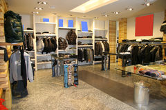 Clothing shop. Interior of clothing store. Series Royalty Free Stock Photos