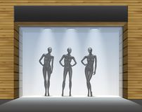Clothing Shop Boutique Store Front with Mannequins Royalty Free Stock Photo