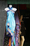 Clothing shop in China town. Royalty Free Stock Images