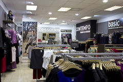 Clothing shop interior Royalty Free Stock Photography