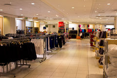 Large Clothing shop interior Royalty Free Stock Photos