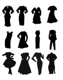 Clothing silhouettes Stock Photo