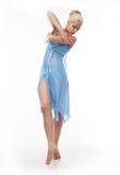 clothing sinnlig standing för cyan dansareflicka Royaltyfria Foton