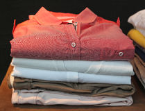 Clothing. Stack of clean modern clothes Stock Images