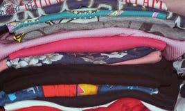Clothing stack Stock Photo