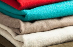 Clothing stack Stock Image