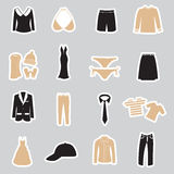 Clothing stickers set eps10 Stock Images