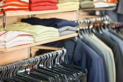 Clothing in the store Stock Image