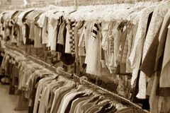 Clothing Store. A Clothing Store, retail concept Royalty Free Stock Photos