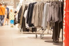 Clothing store Stock Image