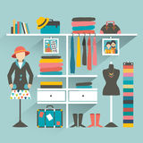 Clothing store. Boutique indoor Royalty Free Stock Photo