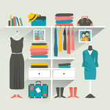 Clothing store. Boutique indoor. Royalty Free Stock Image